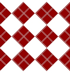 Diamond chessboard red background vector
