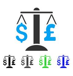dollar pound balance flat icon vector image