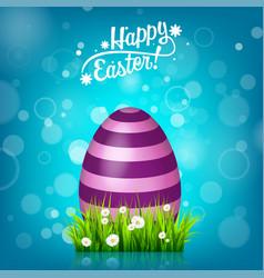 easter egg hunt blue background april holidays vector image vector image
