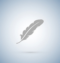 Feather icons isolated on white vector image vector image