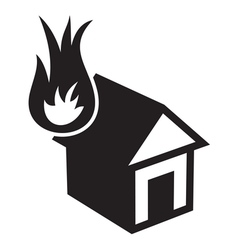 Fire in the house2 resize vector image vector image