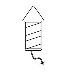 Firework rocket icon image vector