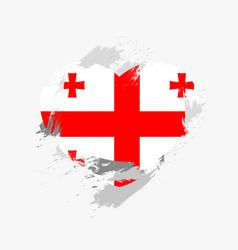 flag of georgia vector image