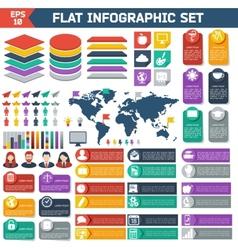 Flat infographic elements set vector