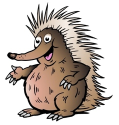 Hand-drawn of an Echidna vector image vector image