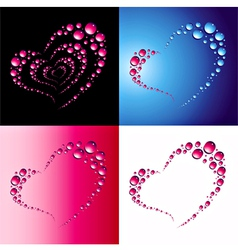 heart bubbles vector image