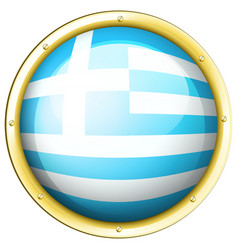 icon design for greece flag vector image