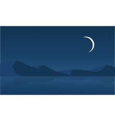 Landscape of desert at night vector