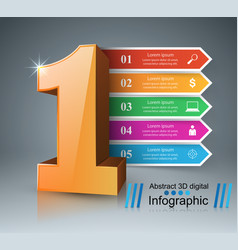 one business infographics origami style vector image vector image