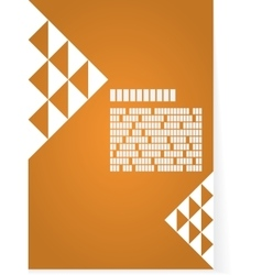 Orange background for brochure or cover vector image