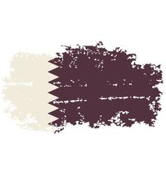 Qatari grunge flag vector image vector image