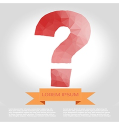 Question mark polygon infographic element with vector