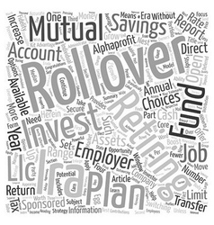 Secure your retirement with a rollover ira text vector