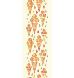 Summer ice cream cones vertical seamless pattern vector