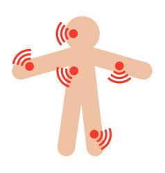 symptom checker medical icon vector image vector image