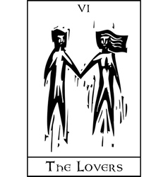 Tarot Card Lovers vector image vector image