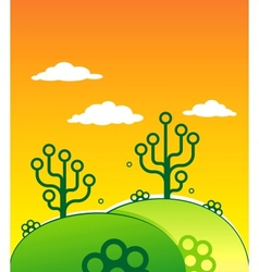 Two digital Trees vector image vector image
