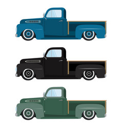 vintage colors cars a isolated vector image vector image