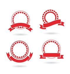 Ribbon badge set vector