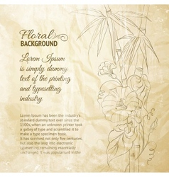 Bindweed flower and bamboo vector