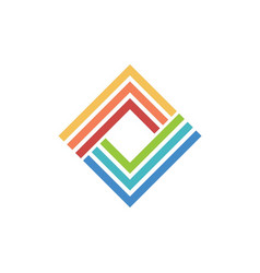 Business technology square logo vector