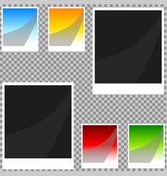 Collection of blank retro photo frames vector
