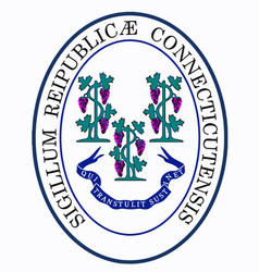 State seal of connecticut vector