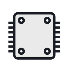 Computers and electronics technology icon vector