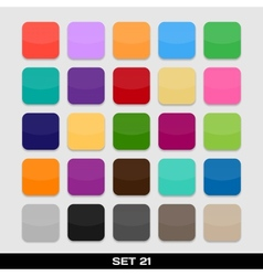 Set of colorful app icon templates frames vector