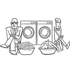 Money laundering cartoon vector