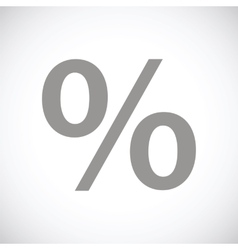 Percent black icon vector