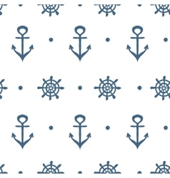 Blue and white nautical template vector