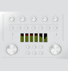 stereo mixer vector image