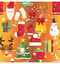 New year seamless pattern endless christmas vector
