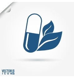 Capsule eco medicament - vector