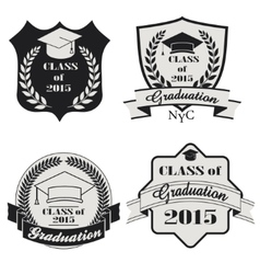 Graduation labels set - vector