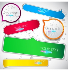 Colorful bubble for speech vector