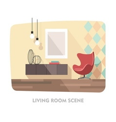 Interior living room modern furniture vector