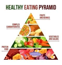 Healthy Eating Pyramid Poster vector image