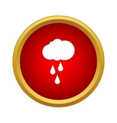 Rain icon simple style vector