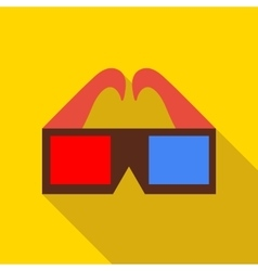 3d glasses icon in flat style vector