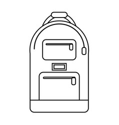 backpack school design image line vector image