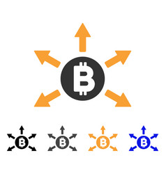 Bitcoin emission icon vector