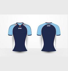 Blue white and orange sport football kits t-shirt vector