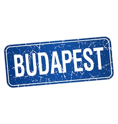 Budapest blue stamp isolated on white background vector