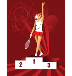 champion tennis vector image vector image