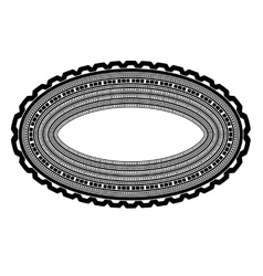 Decorative oval frame isolated vector