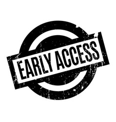 Early access rubber stamp vector