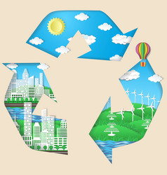 environmental conservation eco technologies vector image
