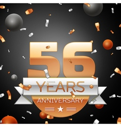 Fifty six years anniversary celebration background vector